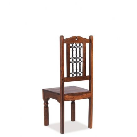 Jali Sheesham Wood Capsule High back Jali Chair